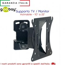 "Supporto Monitor 10-22"" inclinabile - Goobay 91362"