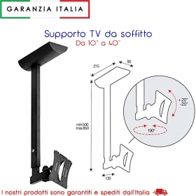 Itb Solution Hisolution Supporto Tv, Nero, 20x50x15