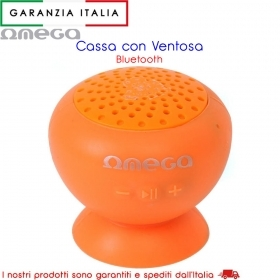 Speaker Bluetooth con ventosa resistente all'acqua - 3W - Arancio