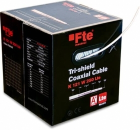 CAVO COASSIALE A BASSA PERDITA TRI-SHIELD LTE ADATTO A IMPIANTI TV-SAT 250M